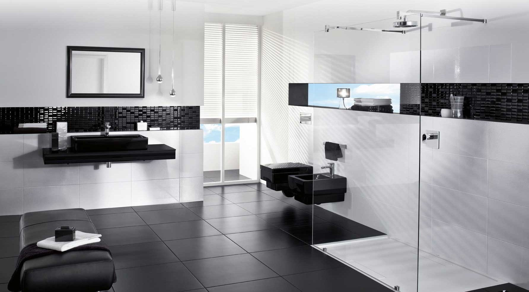 C mo decorar un cuarto de ba o en blanco y negro conducha - Decorar un cuarto de bano ...