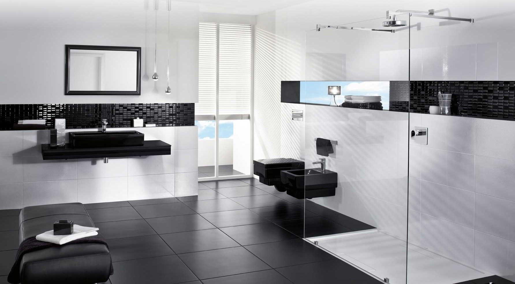 C mo decorar un cuarto de ba o en blanco y negro conducha - Como decorar un bano blanco ...