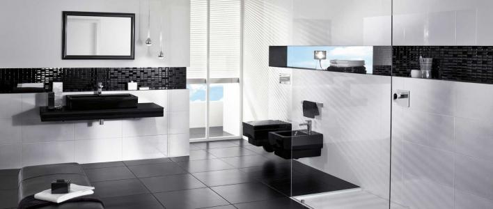 C mo decorar un cuarto de ba o en blanco y negro conducha - Como decorar un cuarto de bano ...
