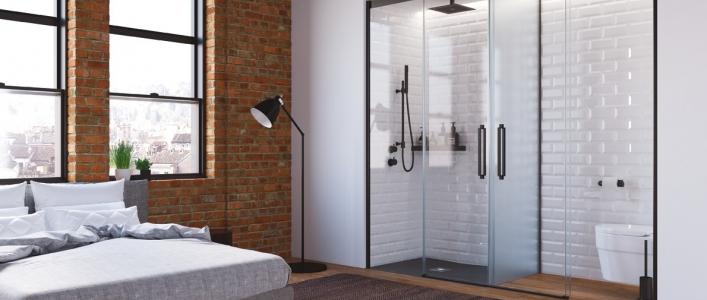 Mamparas negras, la elegancia en tu ducha